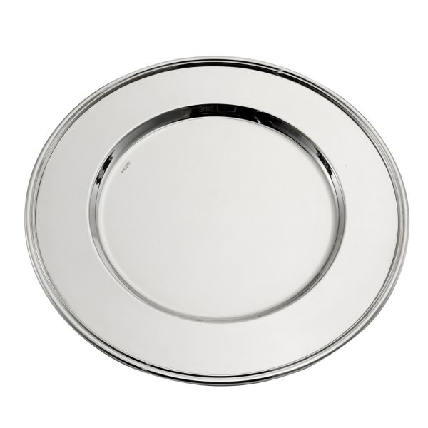 Sottopiatto argentato argento stile Inglese cm.diam.35