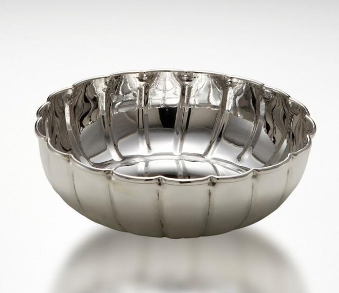 Ciotola tonda benedetta argentato argento sheffield cm.6h diam.22