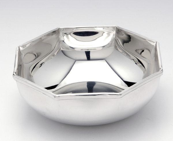 Ciotola stile ottagonale argentato argento sheffield cm.4,5h diam.14