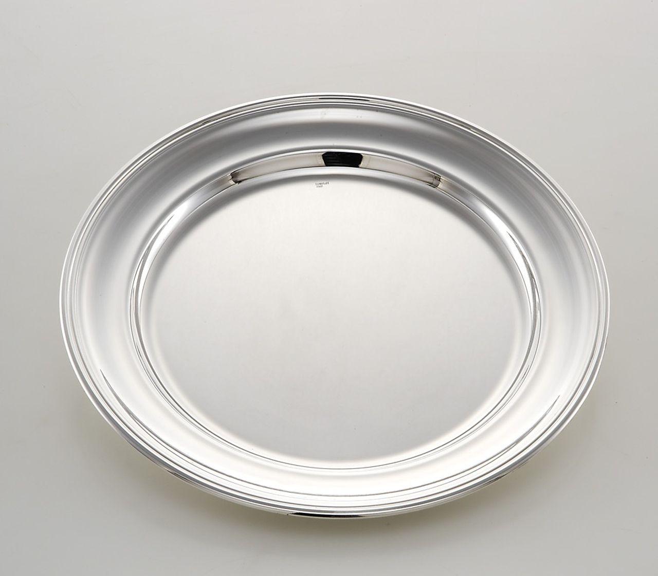 Piatto tondo portata stile Inglese argentato argento sheffield cm.diam.20