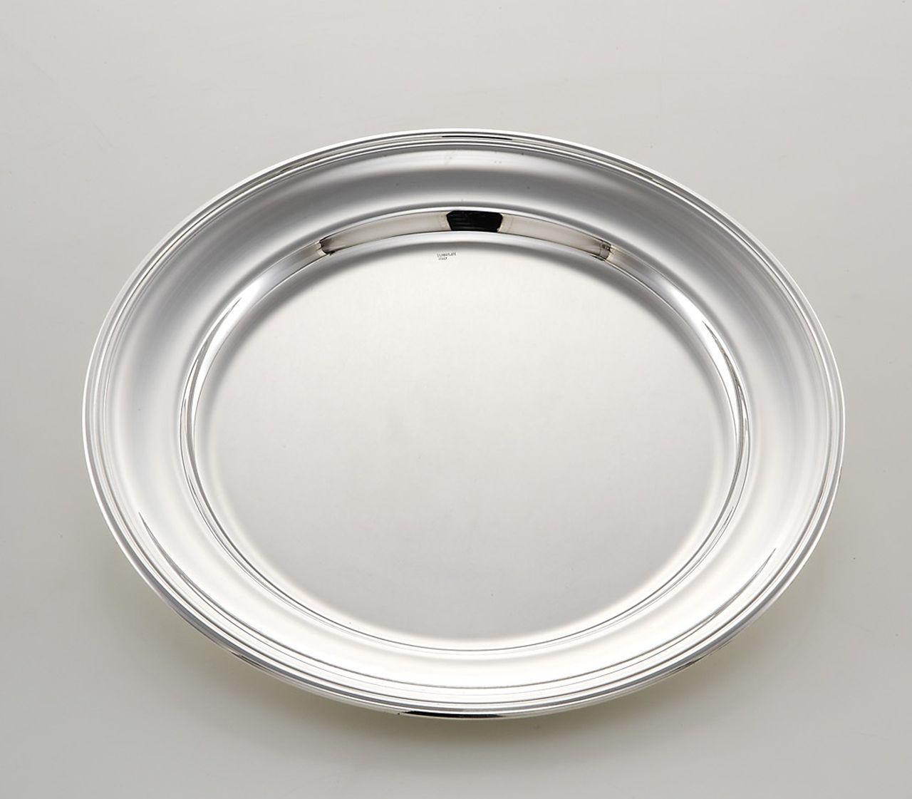 Piatto tondo portata stile Inglese argentato argento sheffield cm.diam.33