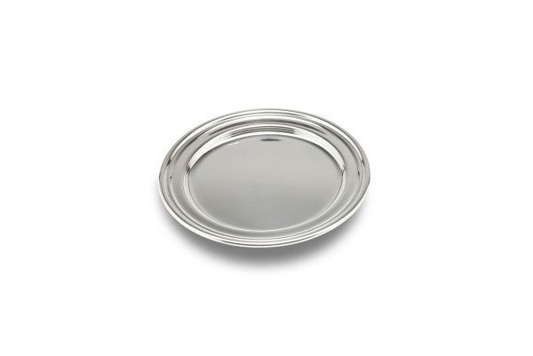 Piatto tondo sotto brocca stile Inglese argentato argento sheffield cm.diam.22