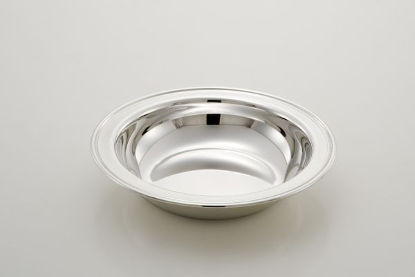 Cestino tondo stile inglese argentato argento sheffield cm.4h diam.20