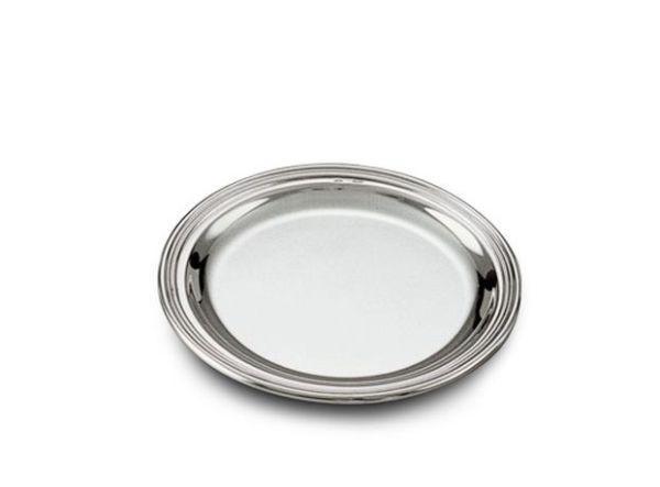 Piattino bordo saldato stile Inglese argentato argento sheffield cm.diam.12