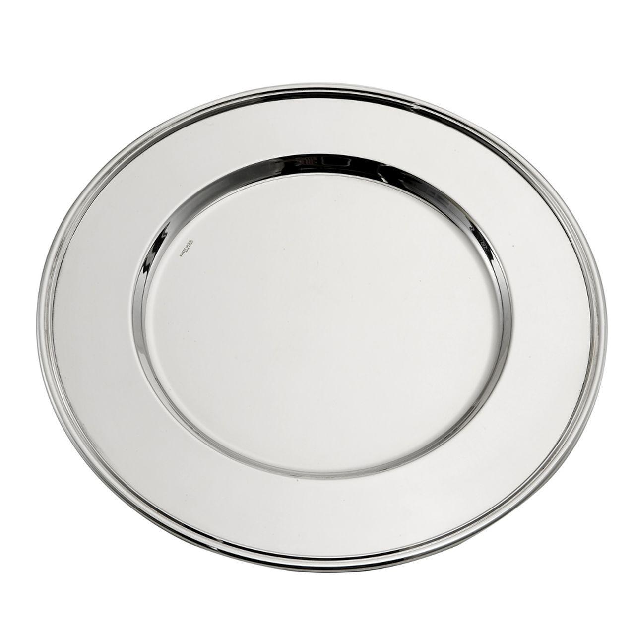 Sottopiatto bordo saldato stile Inglese argentato argento sheffield cm.diam.38