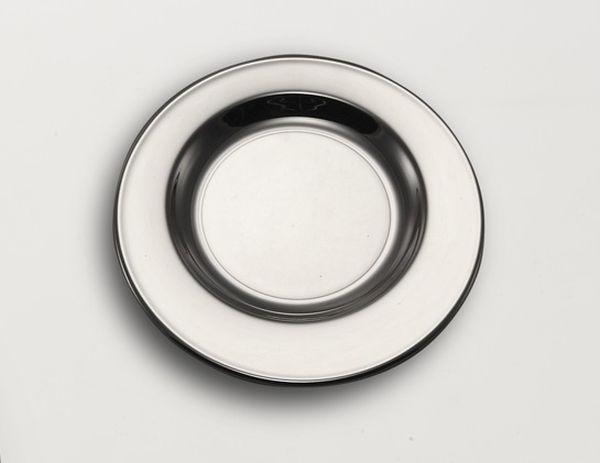 Sottobicchiere argentato argento cm.diam.12