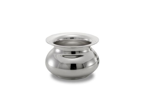 Cachepot liscio argentato argento stile Cardinale cm.12h diam.17