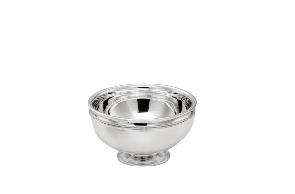 Alzata tonda con base argentata argento stile Cardinale cm.11h diam.18
