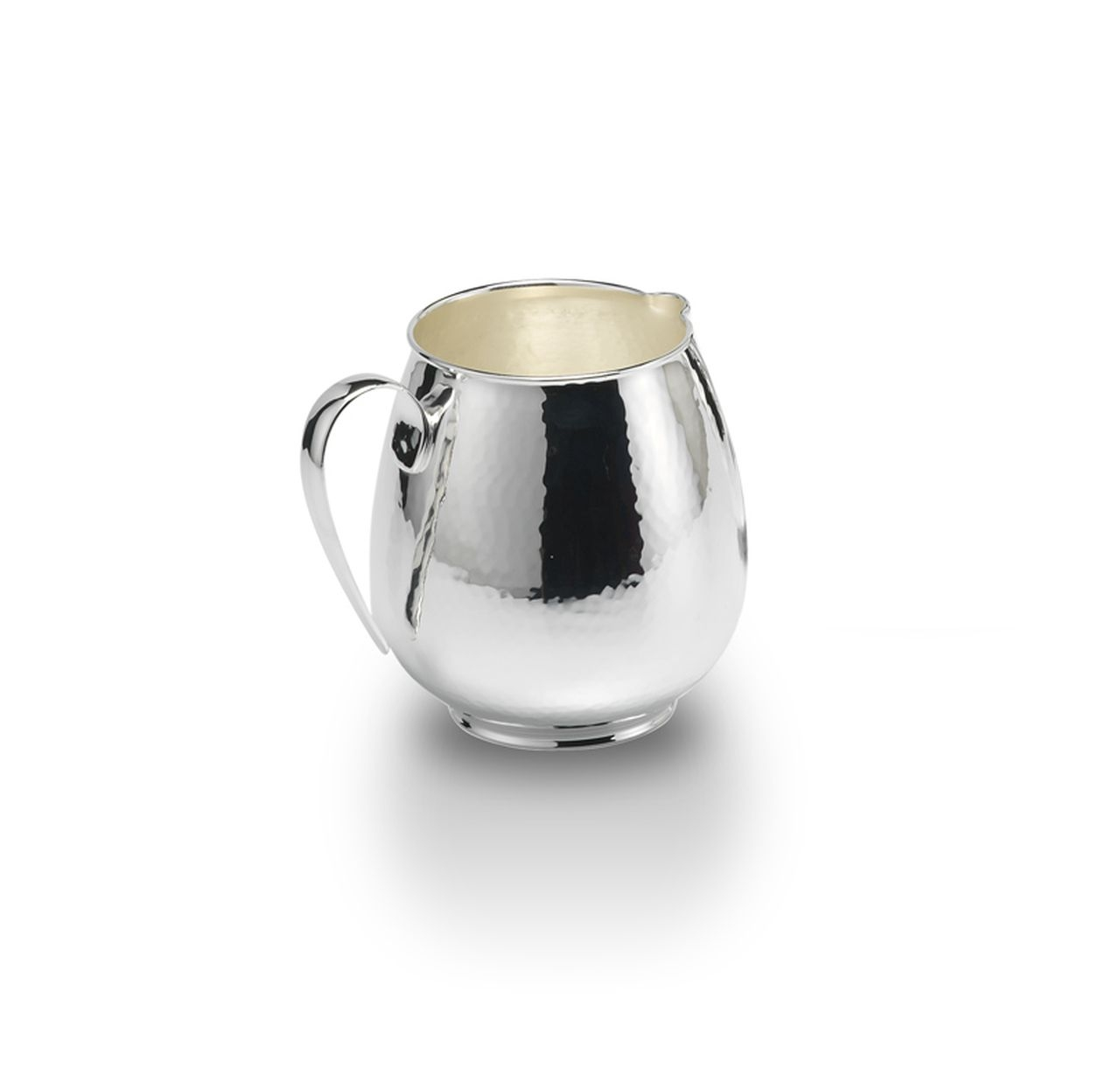 Brocca martellata stile Inglese argentata argento cm.13h diam.9,5