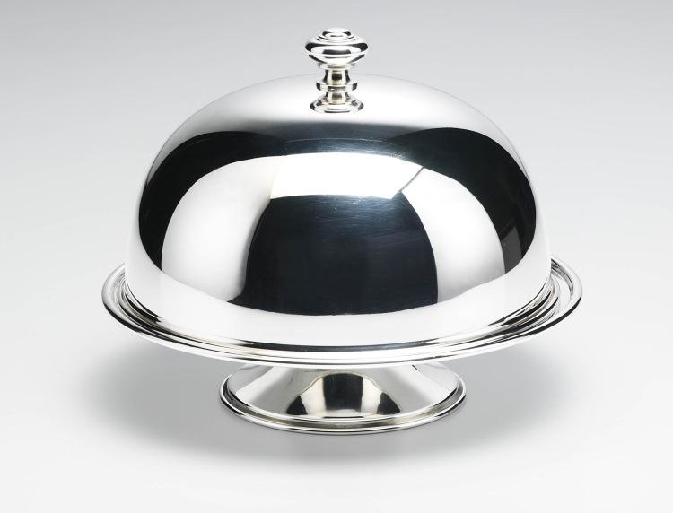 Alzata tonda con cloche campana campana stile Cardinale argentato argento sheffield