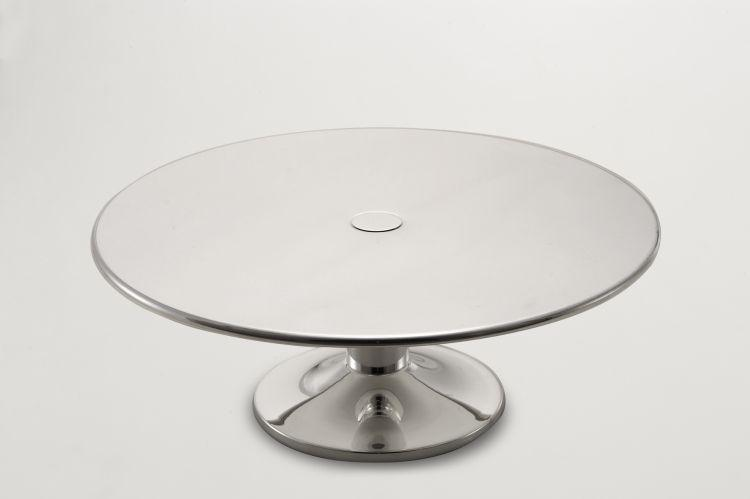 Alzata torta stile Cardinale argentato argento sheffield cm.17h diam.32,5
