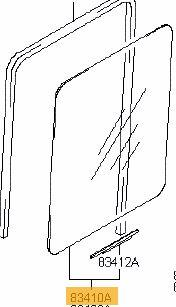 Vetro scandente posteriore sinistro Atos prime 2000-