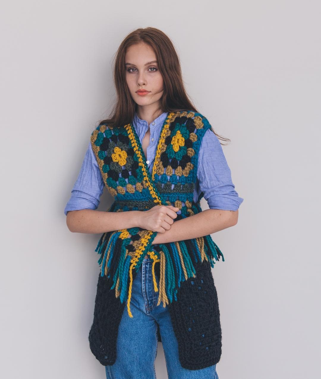 Ready Made - Granny Coachella Vest - Handmade - 1