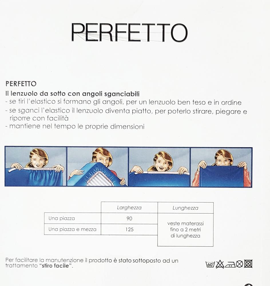 Dimensioni Lenzuola Matrimoniali Bassetti.Bassetti Perfetto Lenzuolo Con Angoli Sganciabili 90x200 Singolo
