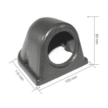 Portamanometro orizzontale SINGOLO 52 mm.
