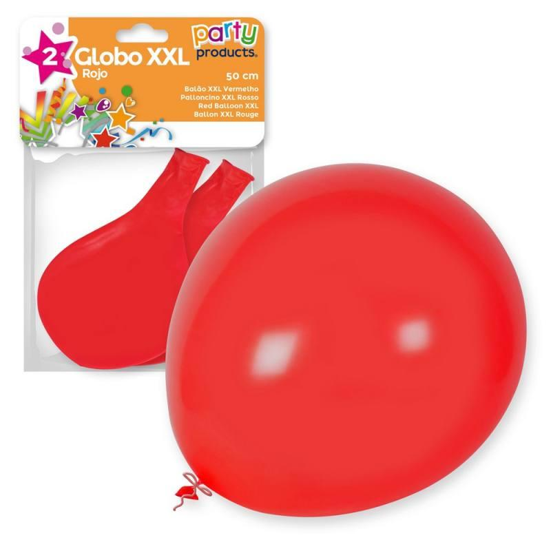 S/2 PALLONCINO XXL ROSSO 50 CM 68085 PARTY