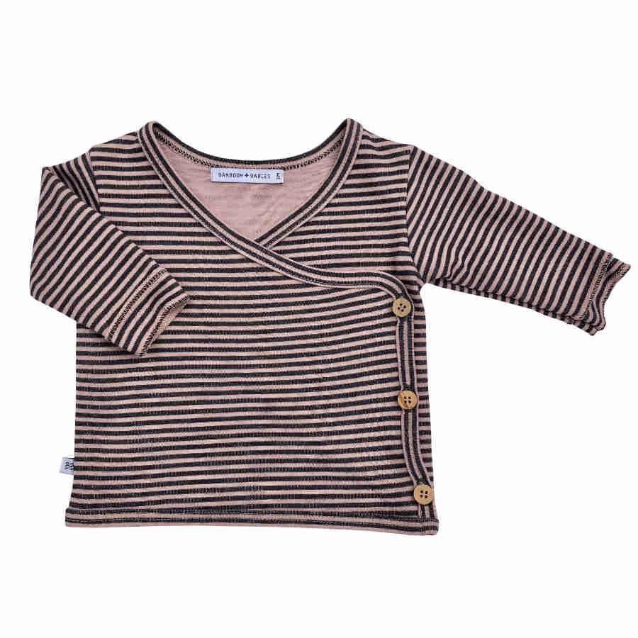 Maglietta avvolgente maniche lunghe per neonato Bamboom