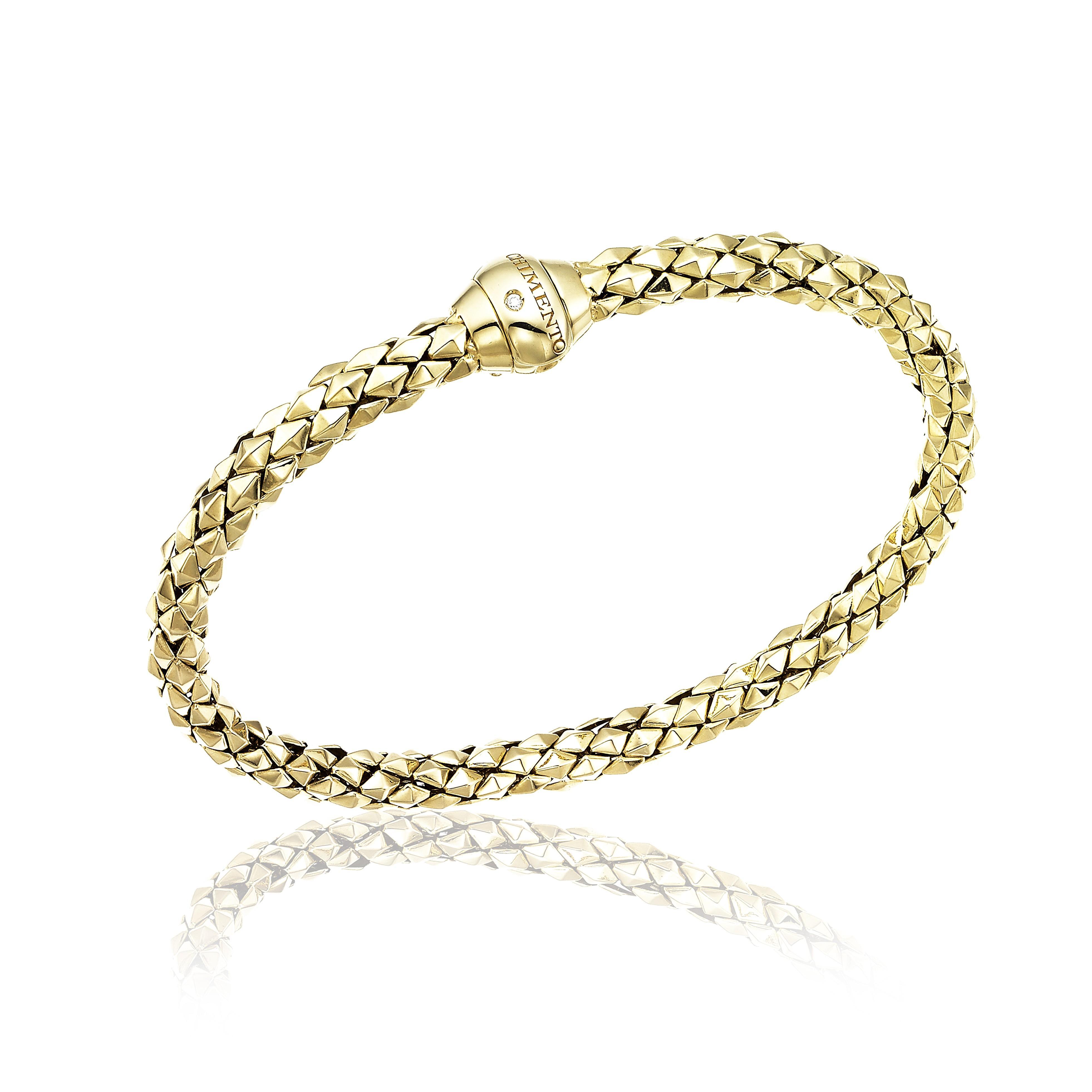 bracciale donna oro giallo 18 kt e diamante Chimento Stretch