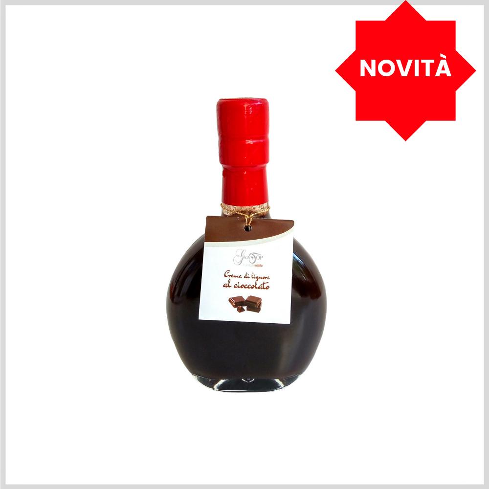 Crema di liquore al cioccolato, disponibile nei formati da 20 cl e 50 cl, gustosa crema di pregati cacai a bassa gradazione alcoolica