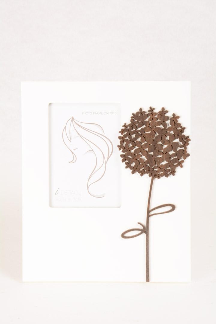 Portafoto Legno Bianco Ortensia 7x10 cm