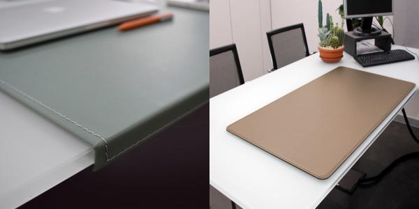 Sottomani da scrivania in cuoio rigenerato