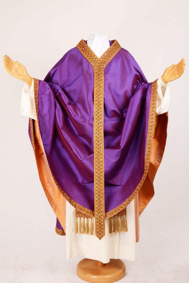 Casula CB705BW Ricamo orientale Viola
