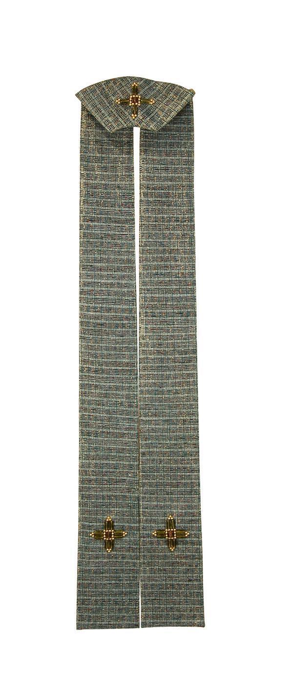 Stola SP312 Verde - Seta Greggia Lurex