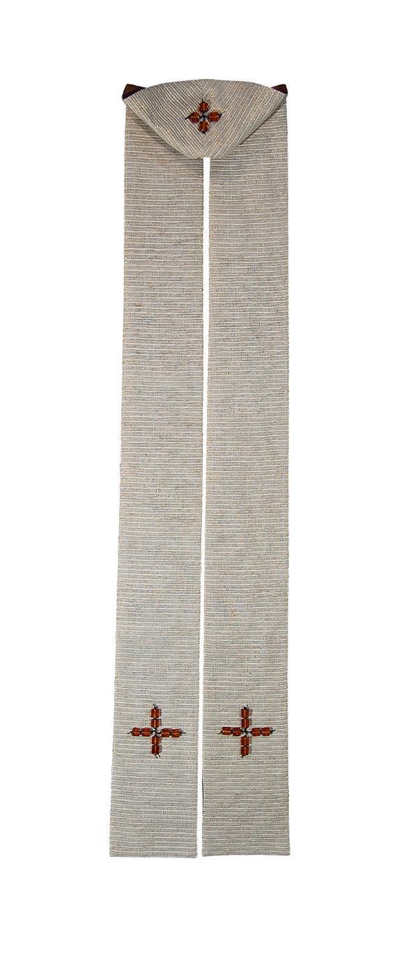 Stola SP304 M1 Bianca - Seta Greggia