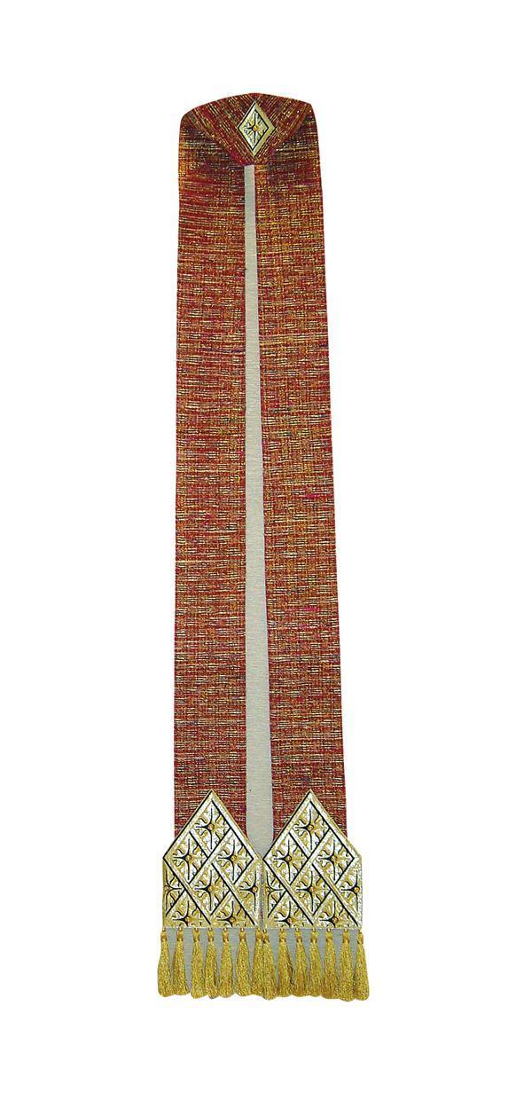 Stola SB126 Rossa - Museo - Seta Greggia Lurex