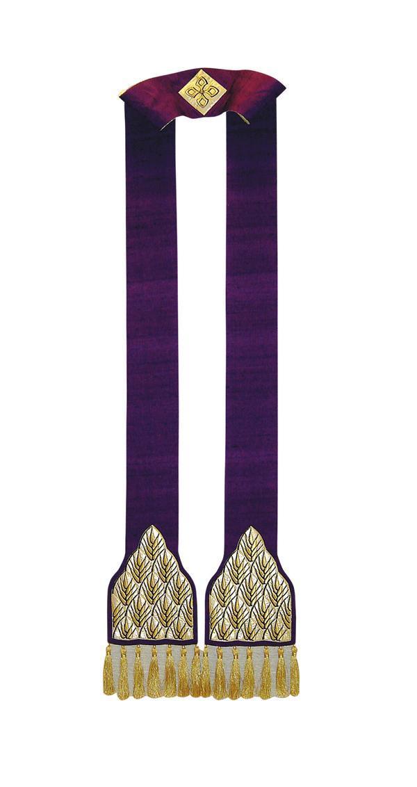 Stola SB138 M1 Viola - Spighe - Pura Seta