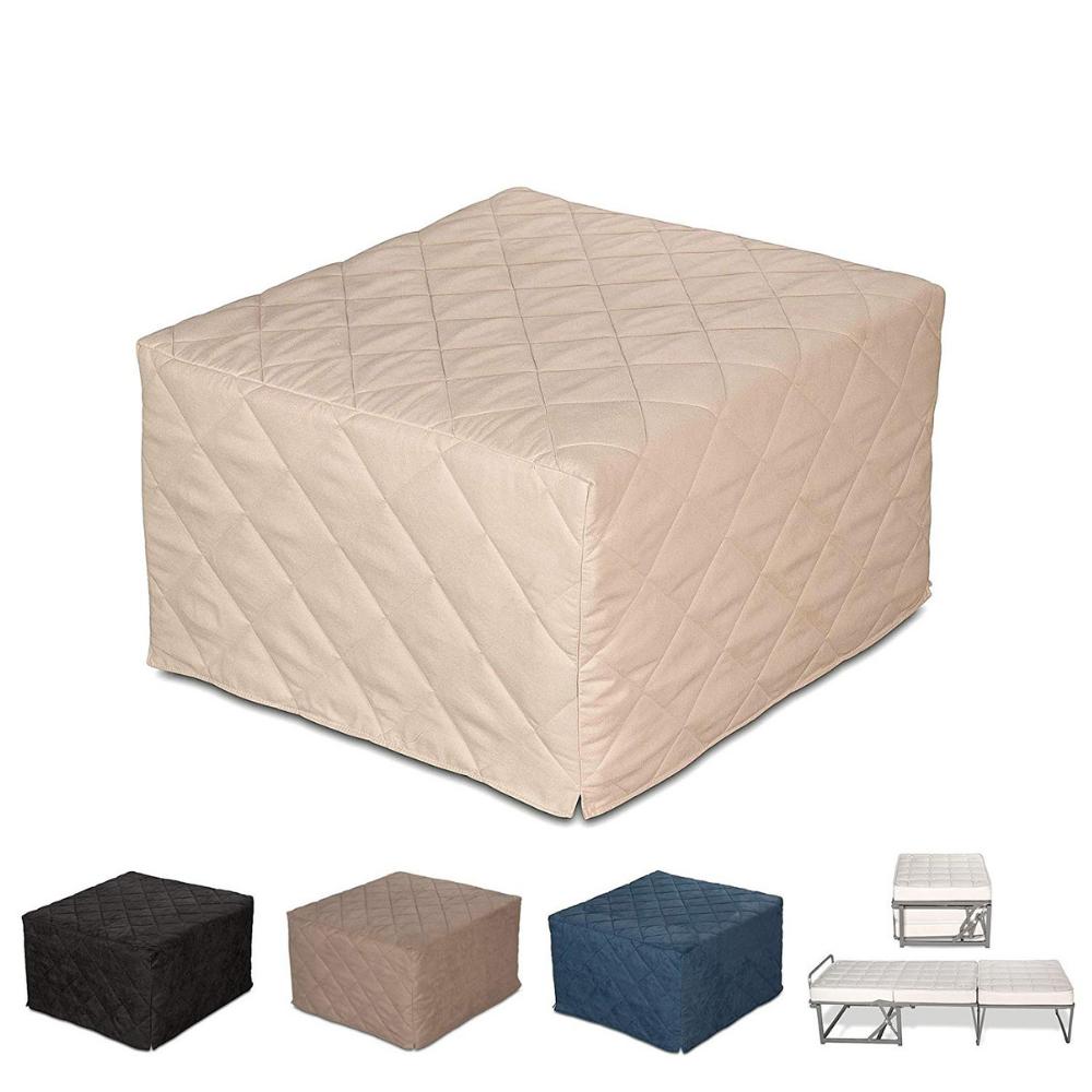Pouf letto da seduta apribile con materasso singolo evergreenweb materassi beds - Letto pieghevole con materasso ...