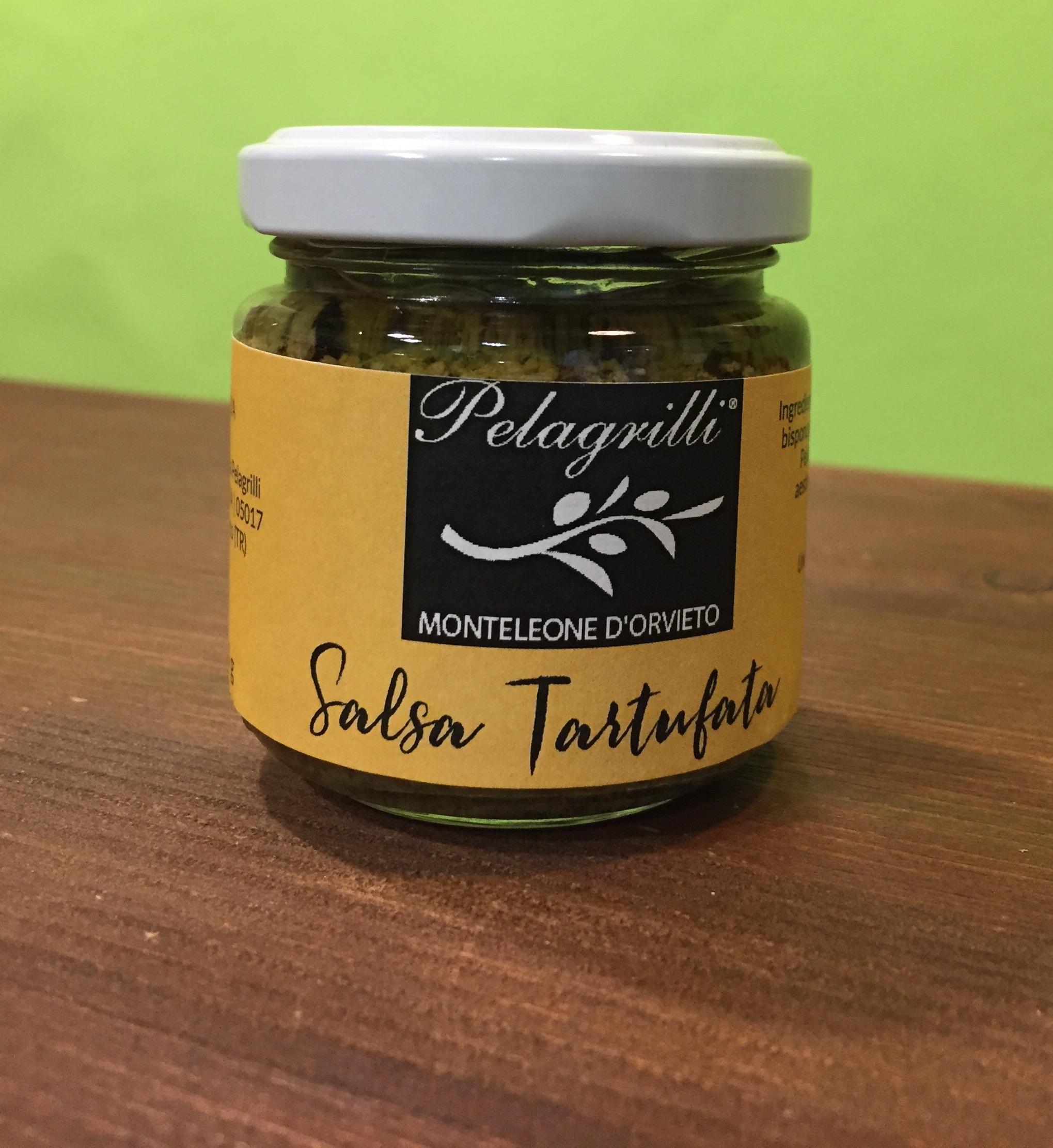 Salsa Tartufata con olio extra vergine di oliva Pelagrilli