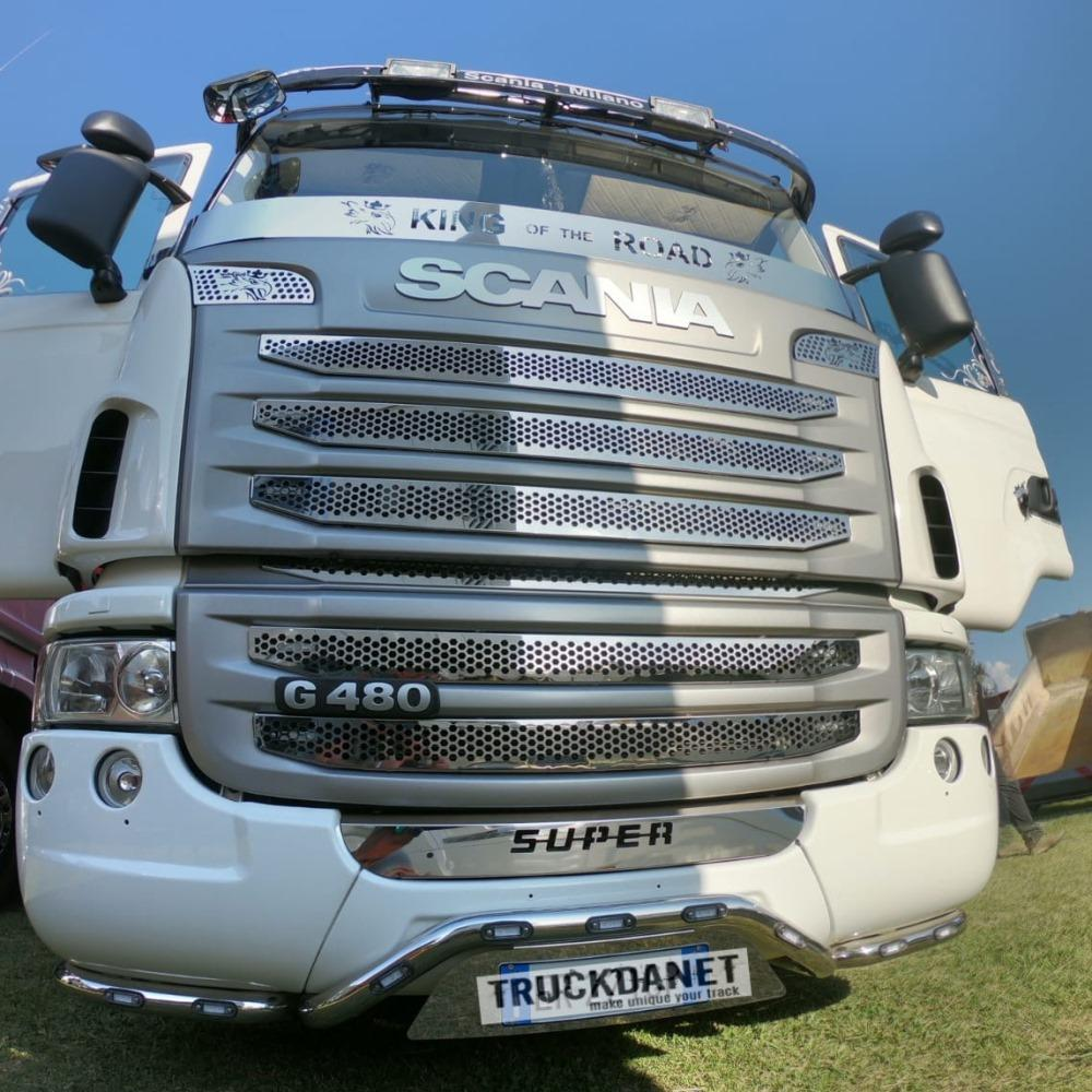 SCANIA Profilo proteggi tergi con decorazione 'GRIFFIN' e scritta 'KING OF THE ROAD''