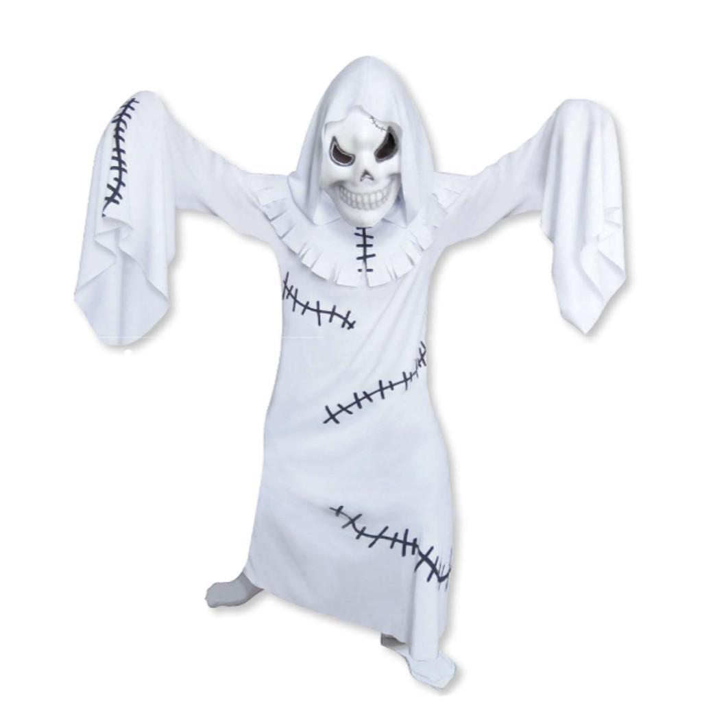 Spaventoso Orribile Ghoul Fantasma Rattoppato  9 -11 anni
