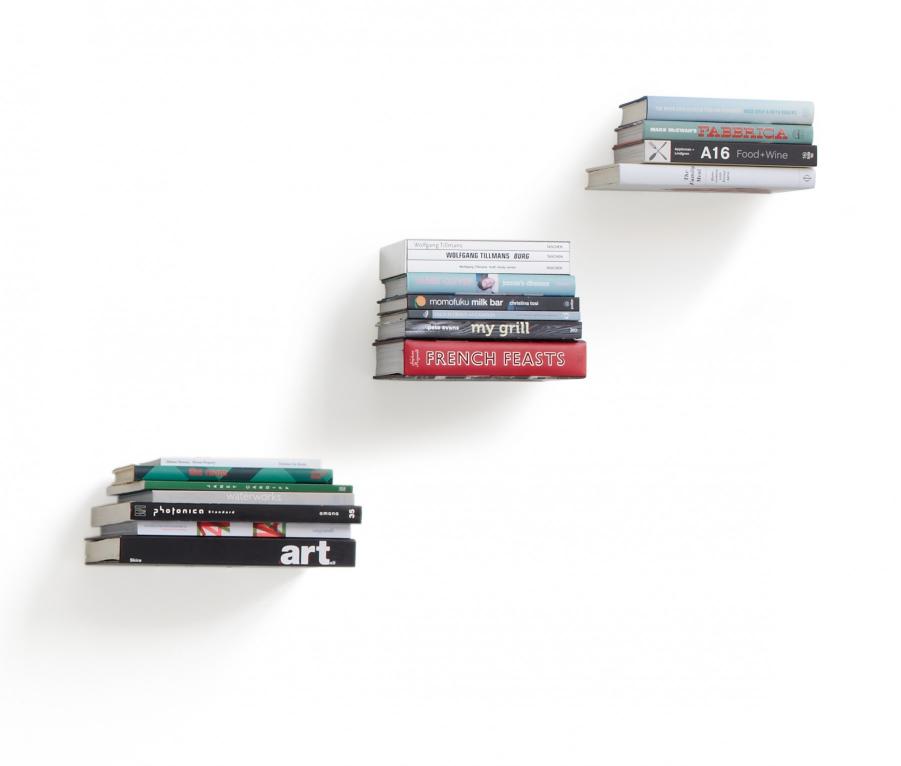 Mensola porta-libri a scomparsa