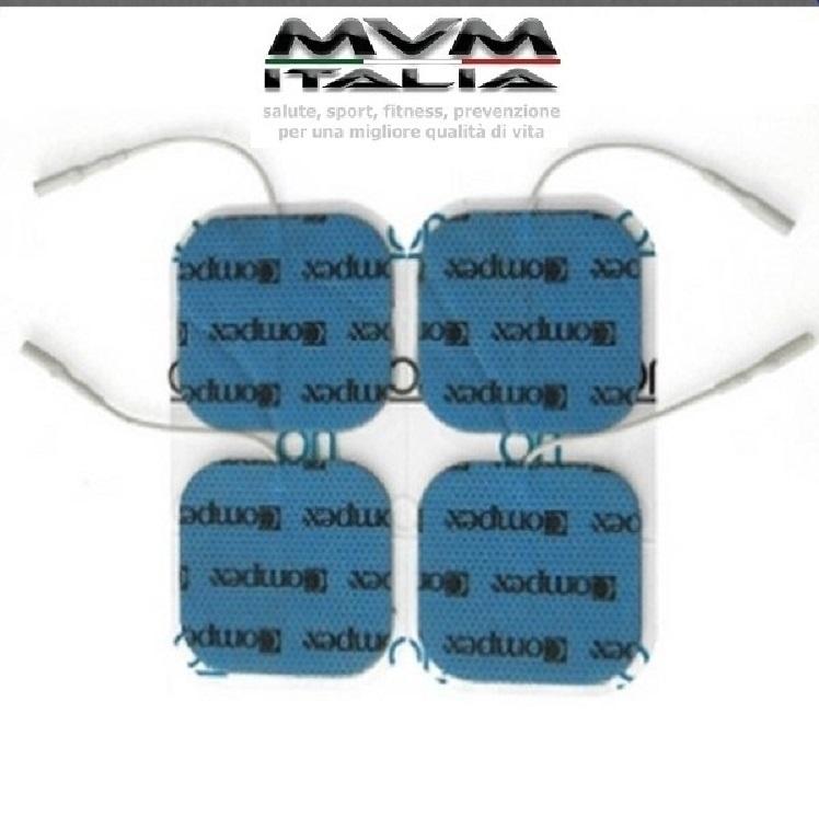 Busta 4 Elettrodi a filo Compex 5x5 (spinotto)