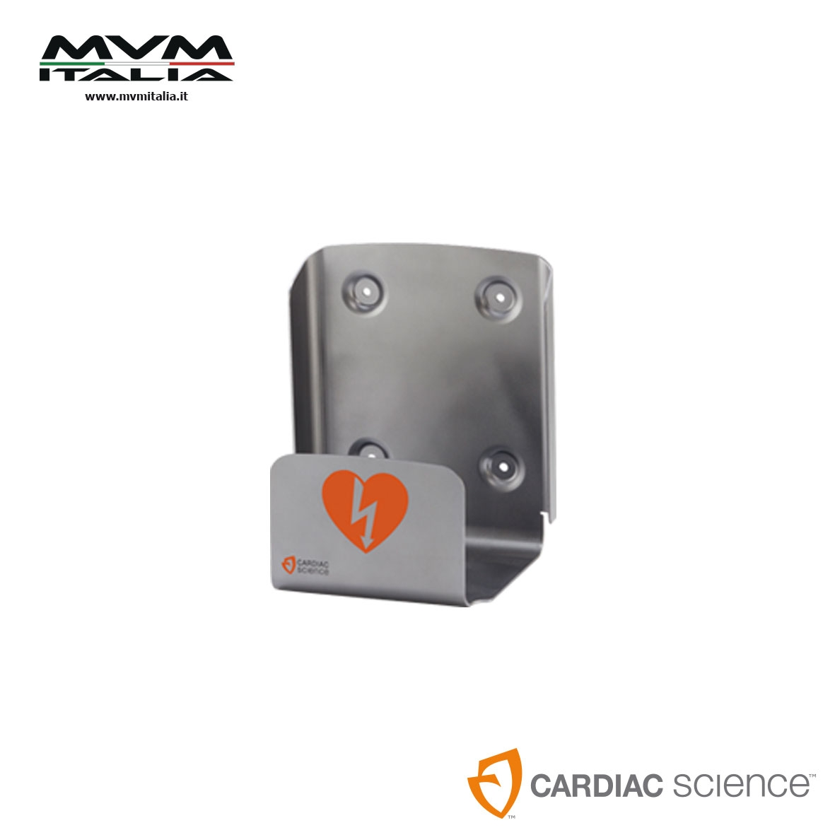 Supporto a parete in metallo CARDIAC science per defibrillatore