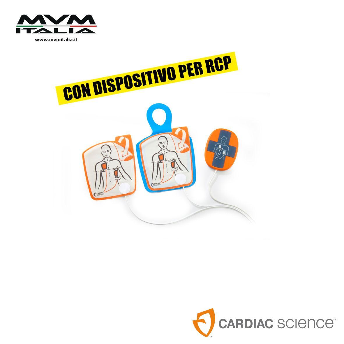 Elettrodi di defibrillazione per adulti con dispositivo per RCP