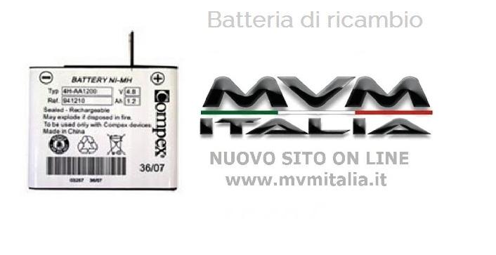 Batteria di ricambio Compex (modelli recenti)