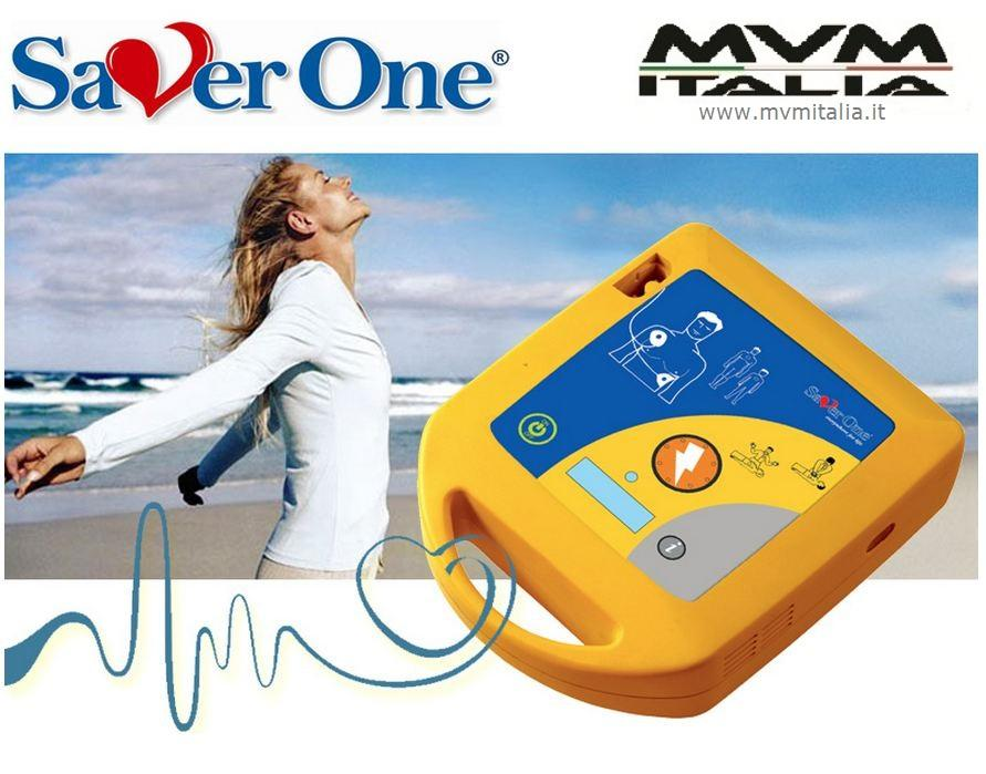 DAE Defibrillatore FULL Automatico SAVER ONE D con mini LCD