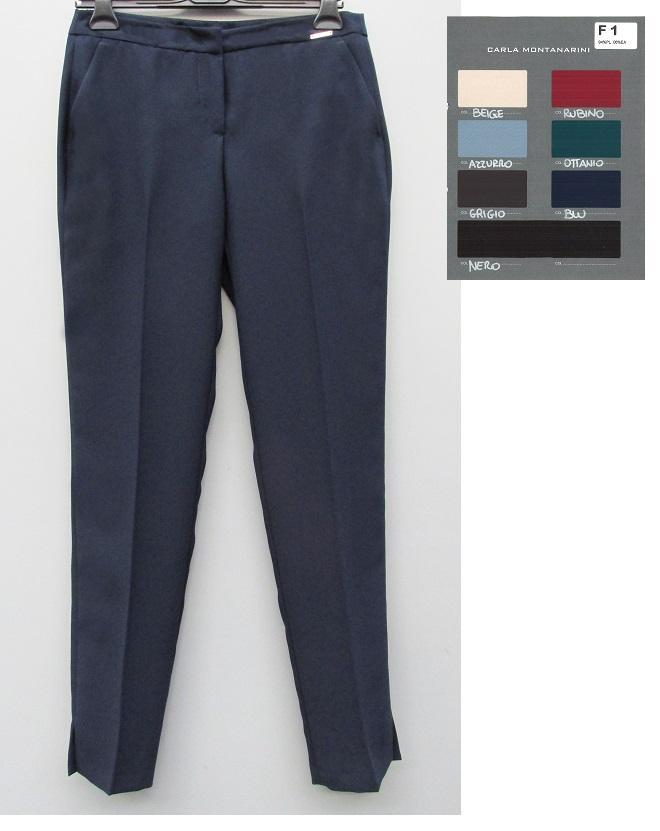 Pantalone uomo con tasche e spacchi al fondo