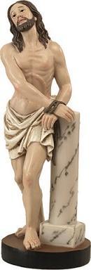 Gesù alla colonna cm. 14