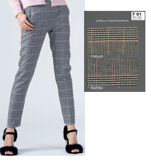 Pantalone vita alta tipo uomo con tasche