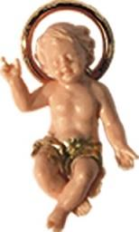 Gesù Bambino color carne cm. 4
