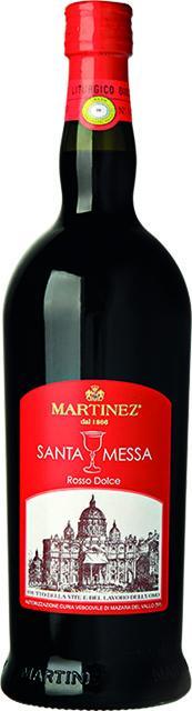 Vino rosso dolce Santa Messa Martinez (scatola 6 bottiglie)