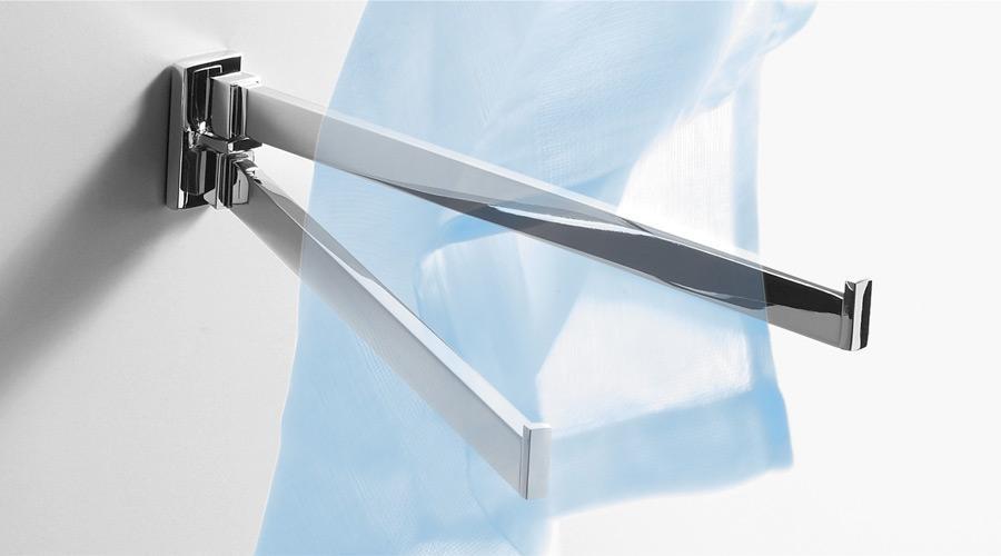 Porta salviette doppio a snodo per il bagno serie Look Colombo design