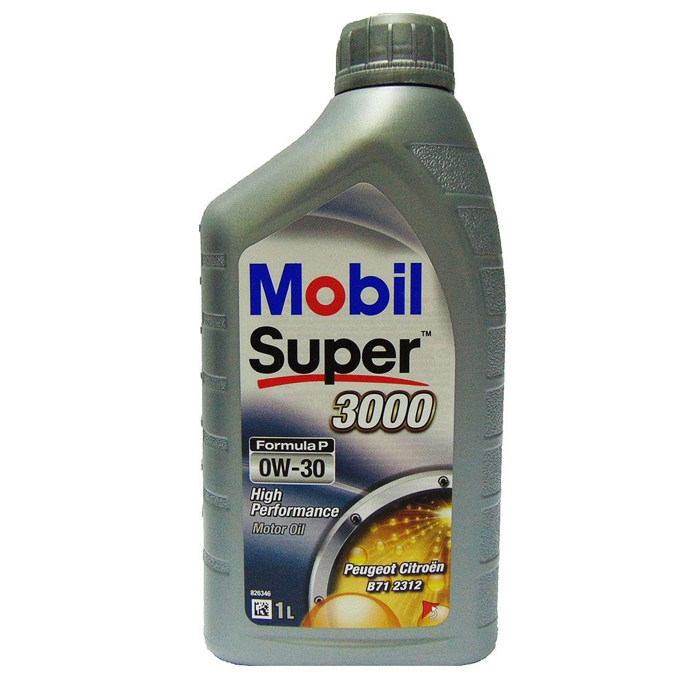 OLIO MOTORE MOBIL SUPER 3000 FORMULA P 0W-30 1L