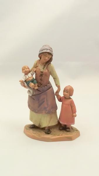 Donna con bambini cm 12