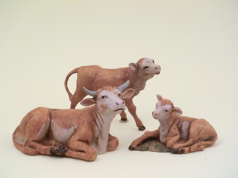 Famiglia mucche cm 12