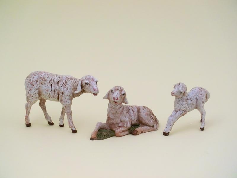 Famiglia pecore cm 12